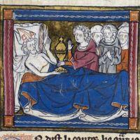 Joseph of Arimathea on his deathbed (c. 1315-1325)