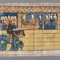 A Joust, from the 1511 Westminster Tournament Roll, College of Arms in London