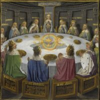 Knights of the Round Table (c. 1475), from Bibliothèque Nationale de France